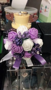 2 Bridal Bridesmaid ribbon Wrist flower Wrist Corsage Campbell, 95008
