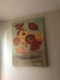 Red and white flower painting Charlotte, 28262
