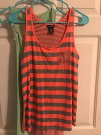 women's brown and black stripe tank top Omaha, 68154