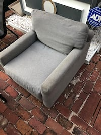 gray fabric padded sofa chair Washington, 20007