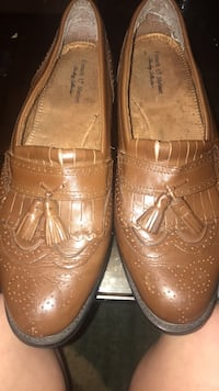 Pair of brown leather loafers Warner Robins, 31088