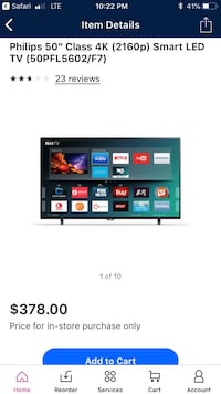 "Philips 50"" 4K Smart Tv Belmont, 43718"