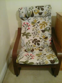 white and green floral padded armchair Silver Spring, 20902
