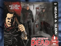 The Walking Dead Negan and Glenn collectables