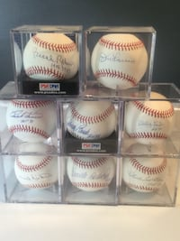 Signed baseballs (All authenticated)(Negotiable) Wilmington, 19808