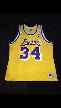 Shaquille O'neal Champion Jersey Size XL/48 Los Angeles, 91343