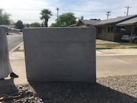 Queen sized box spring. Little worn out from being on our back patio but would work for a guest room or kid room. Can't go wrong for free!   Phoenix, 85015