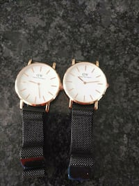 two round silver analog watches Surrey, V4N 1W2