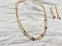 2 grams gold pearl necklace with earrings Addison, 75001