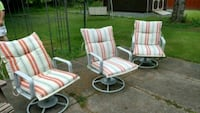 3 patio chairs with cushions Trucksville, 18708