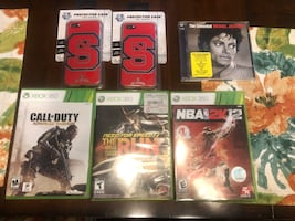 iPhone 7 NC State case, Xbox 360 games. Michael Jackson cds
