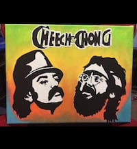 Cheech and Chong acrylic painting null, R1A