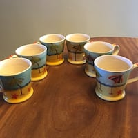 6 Hand painted Mugs/Italy Los Angeles, 91405
