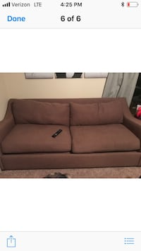 Brown fabric 2-seat sofa Omaha, 68144