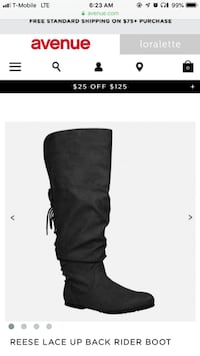 11W black widecafe boots  New York