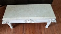 """15"""" high Marble top table. Purcellville, 20132"""