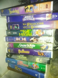 assorted Disney VHS movie cases