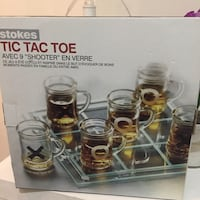 Tic tac toe glass shooters Burnaby, V3J 1S3