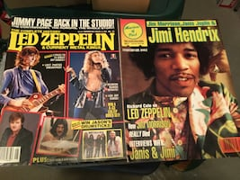 Led Zeppelin & Jimi Hendrix Collectible Magazines
