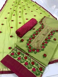 pink and green floral textile New Delhi, 110064