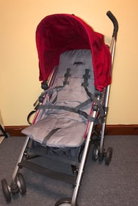 Baby's gray and red stroller 27 mi