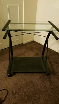 black metal frame glass top table Westmont, 60559