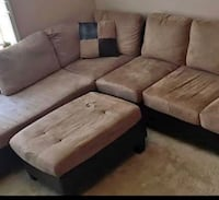 Tan sectional sofa and ottoman Temple Hills