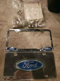 Ford licence plates and lock lug sets Havertown