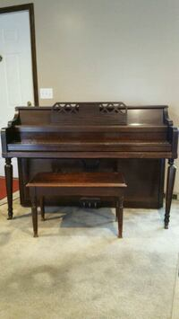 brown wooden upright piano with seat Reynoldsburg, 43068