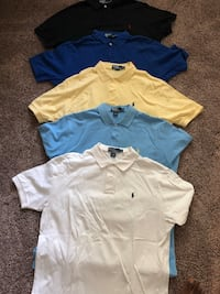 Five (5) Ralph Lauren Polo Shirts - Size XL Burke