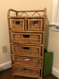 Wicker/rattan small dresser. Like new!  Silver Spring, 20902