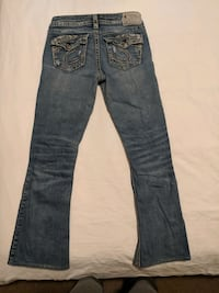 """Women Silver bootcut jeans size 26""""  hardly worm"""