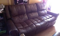 LEATHER SOFA RECLINER Hanford