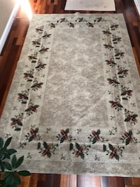 white and black floral area rug Salinas, 93907