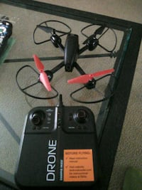 black and red Drone with camera Edgewood