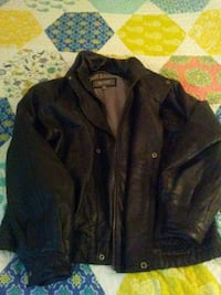 Wisons black leather jacket with liner