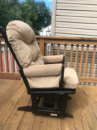 brown wooden framed white padded glider chair Germantown, 20874