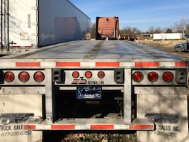 Flatbed trailer 48ft for sale or for rent 600$/mo it's ready to go