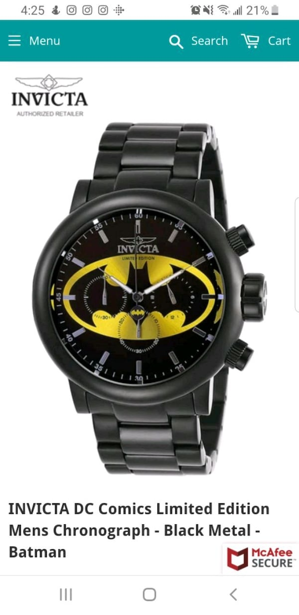 Limited Edition Invicta DC Batman Chronograph Watc e8532394-3375-468e-9a08-8b2aa40f566f