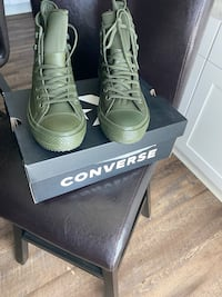 Army green converse
