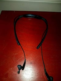 black and red Bluetooth neckband 331 mi