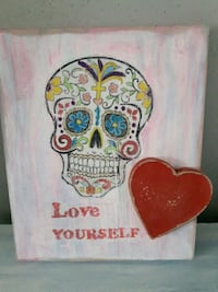 Hand made Sugar Skull sign London, N6C 5B3