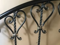 Ornate style headboard and footboard with bed frame complete set Springfield, 19064