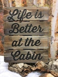 """Life Is Better...Table Stand On Sign 10"""" x 8"""" Barrie, L4N 5S6"""