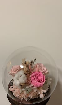 Glass Ball with Bouquet