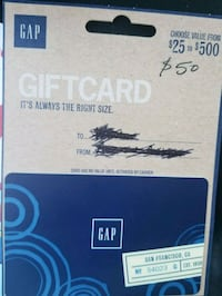 50 gift card from gap