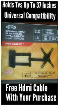 """Tv Wall Mount 17 to 37"""" lcd-led tv monitor Arm extends 70 to 355mm Til"""