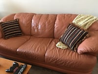 Three Seater GENUINE LEATHER Sofa for sale Toronto, M6M 5A2