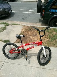 red and black BMX bike