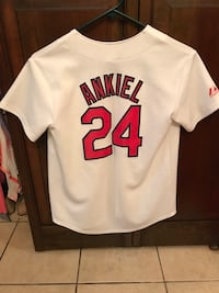 White and red cardinals jersey Springfield, 65807